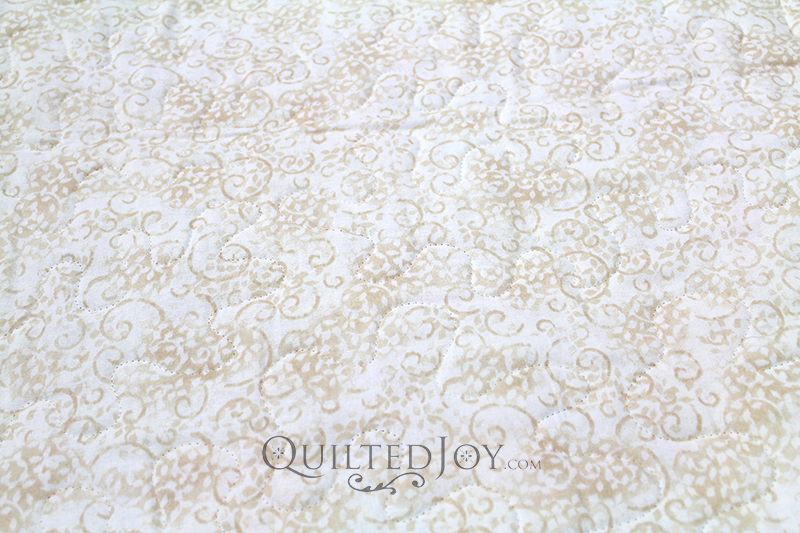 "Essentials Leafy Scroll 108"" Ivory fabric"