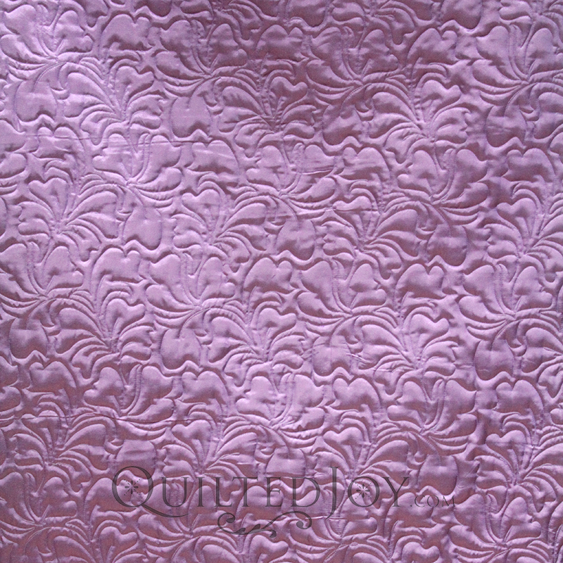 Melanie used a silk backing fabric for her baby quilt because the softer fabric is better for baby's sensitive skin and hair.