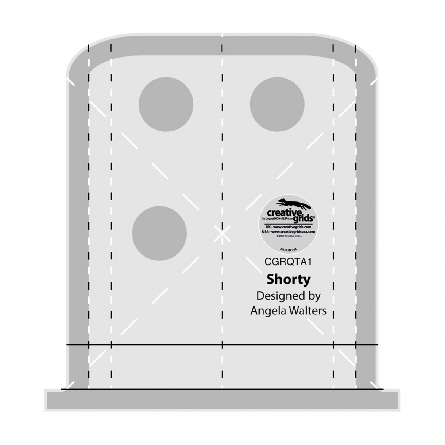 The Shorty is a machine quilting ruler designed by Angela Walters to use on both your home sewing machine and your longarm quilting machine!