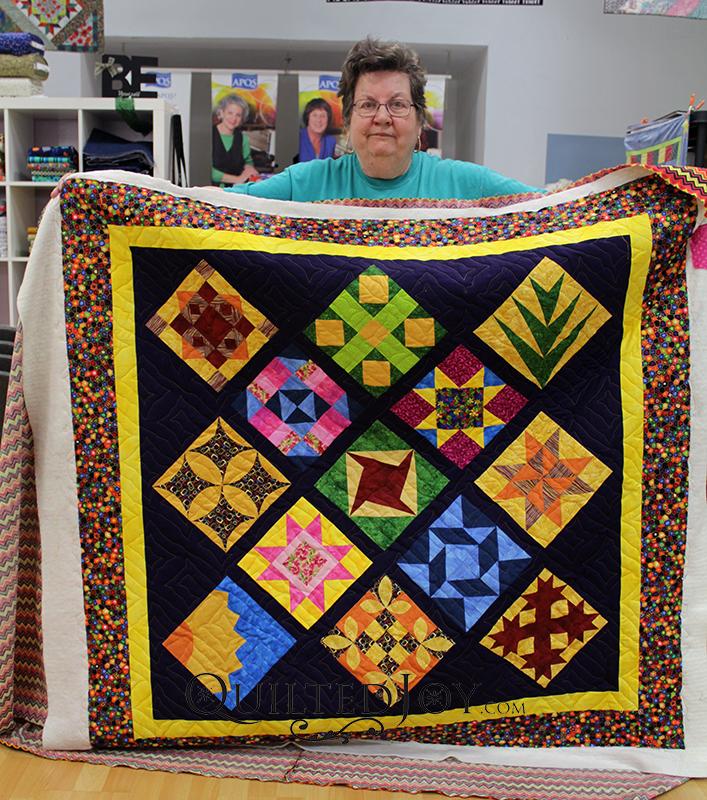 Bonnie's Women of the Bible sampler quilt