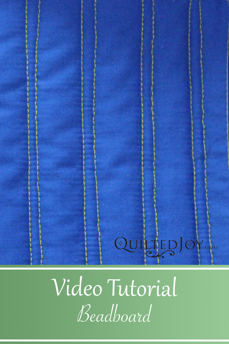 Learn how to quilt Beadboard on a longarm machine in the latest APQS video tutorial with Angela Huffman. The Beadboard or Piano Key design is super simple and looks amazing in big borders on a quilt.