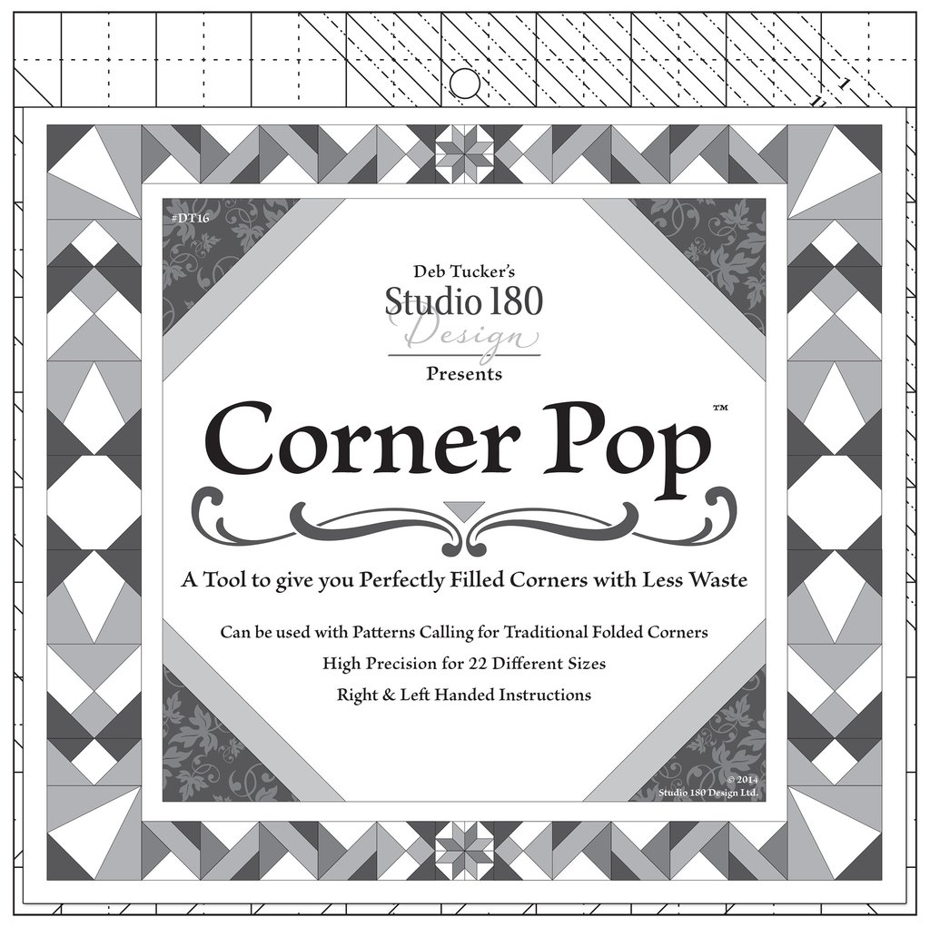 Corner Pop quilt piecing ruler by Deb Tucker's Studio 180 Design