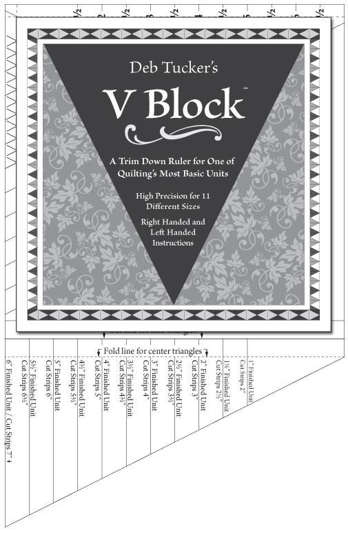 V Block quilt piecing ruler by Deb Tucker's Studio 180 Design