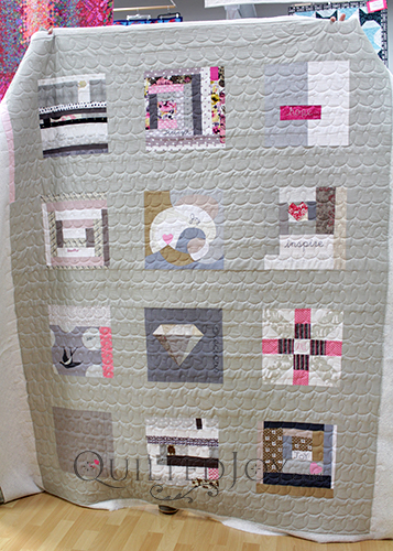 A collaborative quilt made for a friend battling cancer.