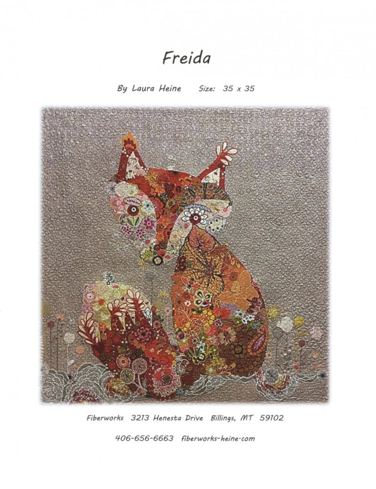 Freida Fox Fabric Collage Quilt Pattern by Laura Heine