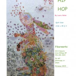 Hip Hop Rabbit Fabric Collage Quilt Pattern by Laura Heine