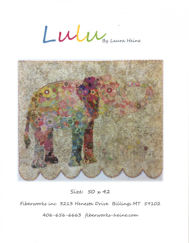 Lulu Elephant Collage Pattern