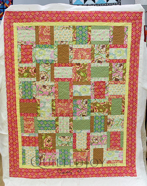 Lynn's Modified Rail Fence quilt.
