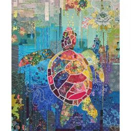 Seawell Sea Turtle Laura Heine Fabric Collage Pattern