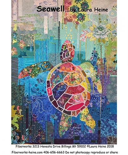 Seawell Sea Turtle Laura Heine Fabric Collage Pattern