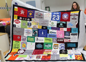 T-shirt quilt for a teenage girl.