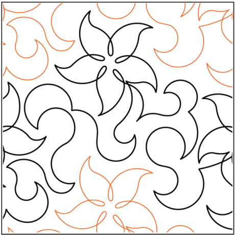 """Bell Blossom - 10"""" tall designed by Hermione Agee. Available at Quilted Joy.com."""
