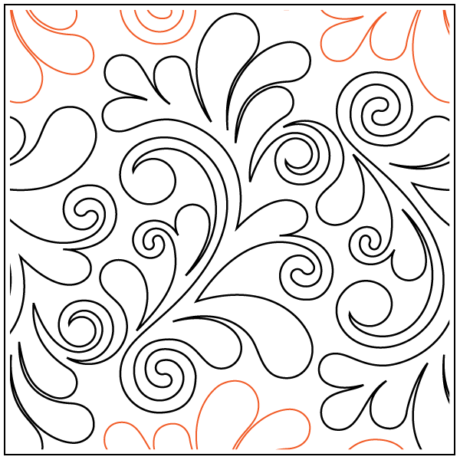 "Nemesh Feather Grande Paper Pantograph 13"" tall Designed by Bethane Nemesh Available at Quilted Joy.com"