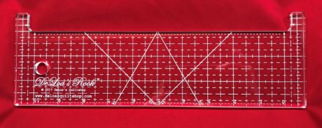 DeLoa's Rook quilting ruler for stitch in the ditch, crosshatching, and diamond crosshatching