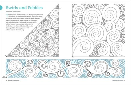 180 Doodle Designs by Karen M. Burns Swirls and Pebbles. Available at Quilted Joy.com.