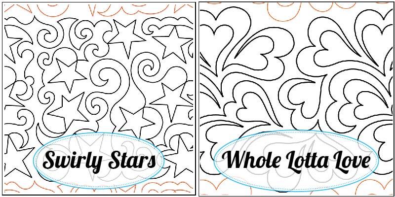 Swirly Stars Paper Pantograph, Whole Lotta Love Paper Pantograph