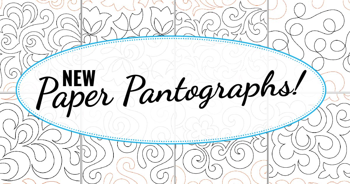 Quilted Joy has added to it's collection of Paper Pantographs! Check out the new designs available now!