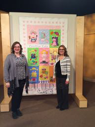 Angela Huffman and Sara Gallegos on the set of Fons & Porter's Love of Quilting episode 3205 A Way with Applique