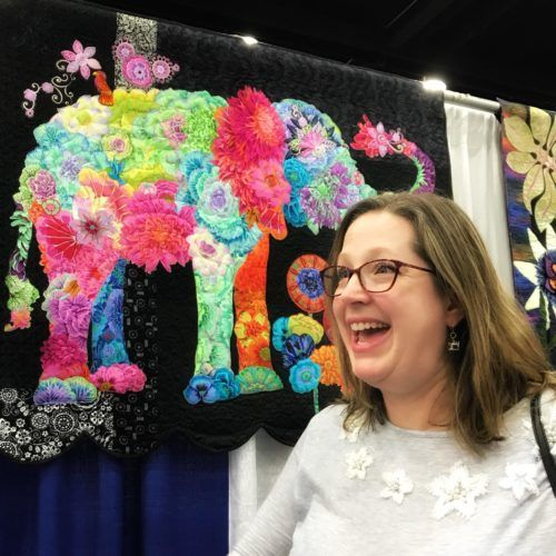 Angela Huffman's Lulu Elephant Fabric Collage Quilt at the Kentucky State Fair 2018