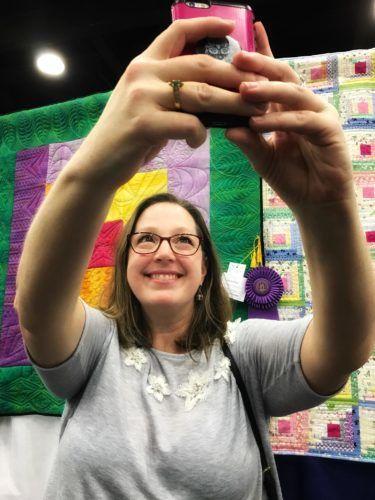Angela Huffman KY State Fair Selfie Big Ass Borders Quilt