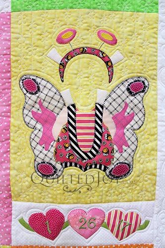 Paper Doll Quilt Butterfly Block Quilting by Angela Huffman