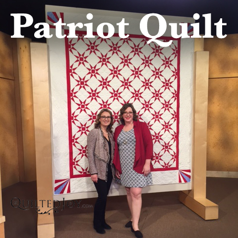 Patriot Quilt Designed and Quilted by Angela Huffman