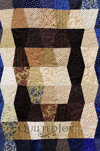 Center of a Patriotic Tumbler Block Quilt
