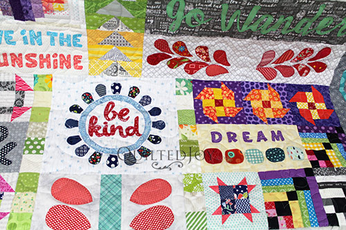 Debra's Dear Daughter Quilt - Be Kind & Dream Blocks