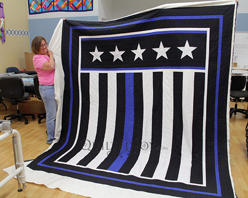 Judy's Thin Blue Line Quilt
