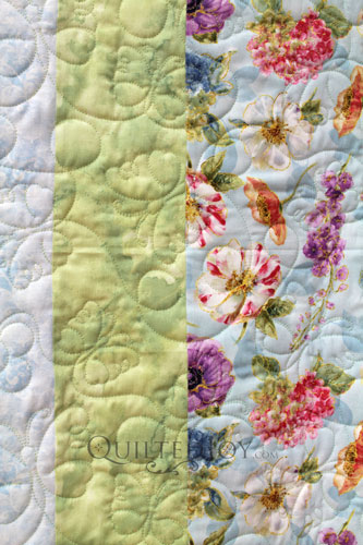 Butterflies and Daisies edge to edge design on Mary Jo's Sampler Quilt