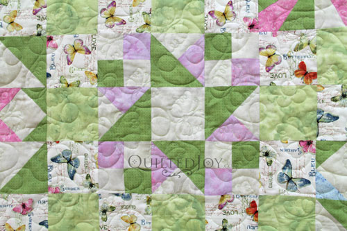 Friendship Star Block Variation in Mary Jo's Sampler Quilt