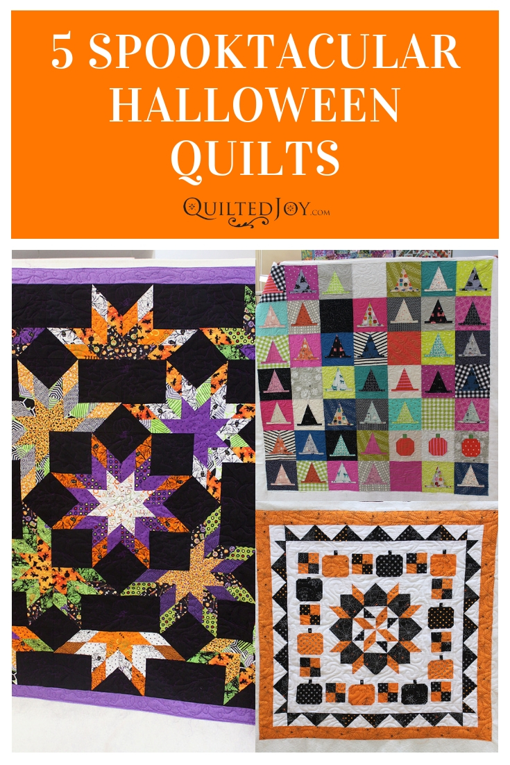 Get inspired for Halloween fun with these five spooktacular Halloween quilts made by the longarm quilting machine renters at Quilted Joy.
