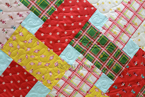 Erin Free Motion Quilted Different Filler Designs with a Longarm Quilting Machine