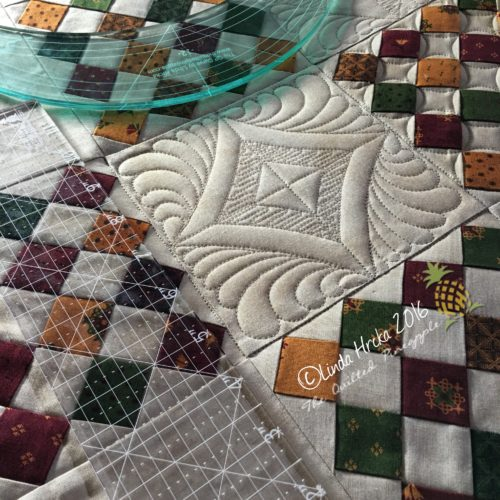 Learn How to Quilt Curves and How to Quilt with Rulers in this Longarm Quilting Class Taught by Linda Hrcka