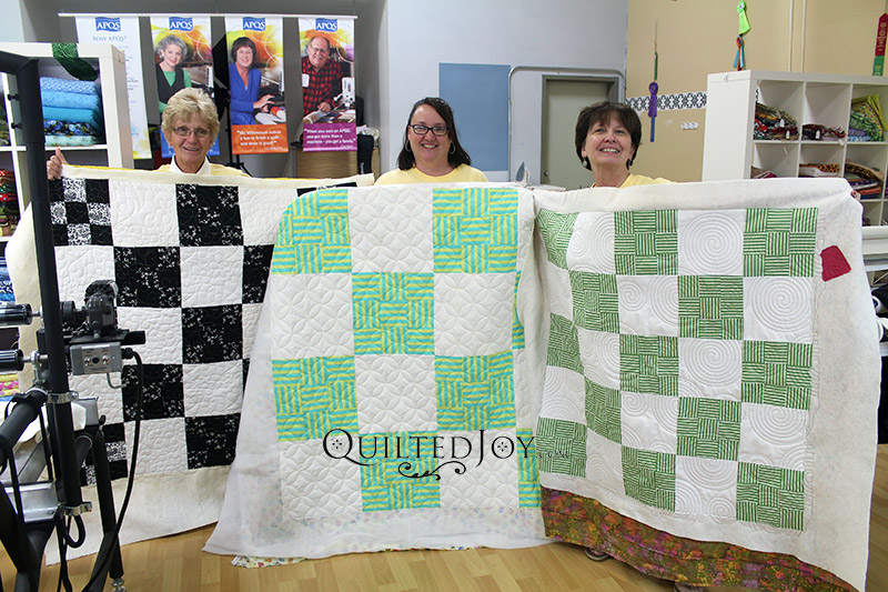 Longarm Quilting Machine Renters Show off their Completed Quilts at Quilted Joy