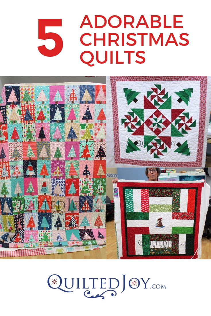 5 Adorable Christmas Quilts QuiltedJoy.com