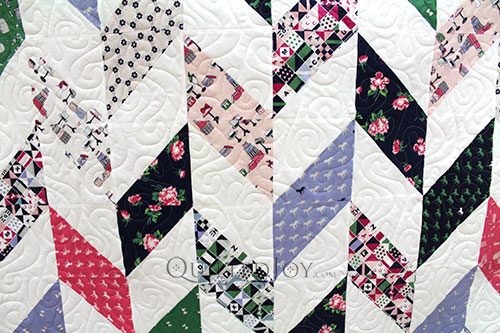 Colleen's Herringbone Quilt with Derby Day Fabrics