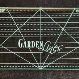 Garden Lines Stitch in the Ditch ruler by Bethanne Nemesh. Available at Quilted Joy.com.