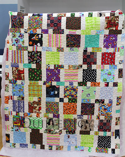 Claudia made her memory quilt from her dog's bandanna
