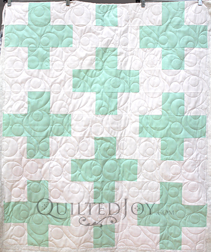 Lisa's Plus Sign Baby Quilt, quilted by Angela Huffman