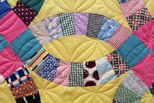 Nancy's Vintage Double Wedding Band Quilt