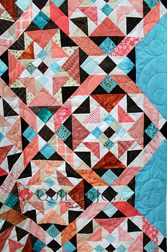Pam's On Ringo Lake Quilt, quilted by Angela Huffman of Quilted Joy