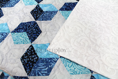 Sarah's Tumbling Blocks Quilt