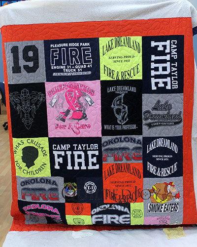 Firefighter Memorial Tshirt Quilt