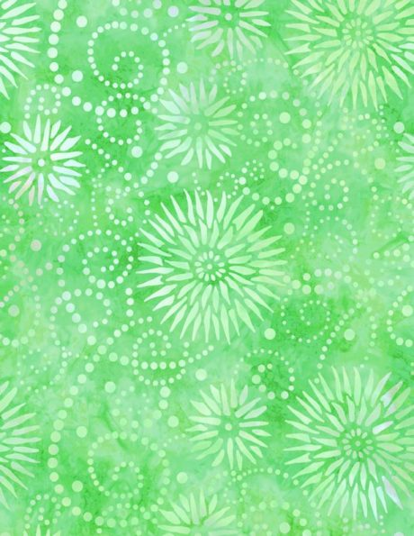 """Flower Burst Lime Essential 108"""" by Wilmington Prints. 1054-2084-751. 745181407872. Available at Quilted Joy.com."""
