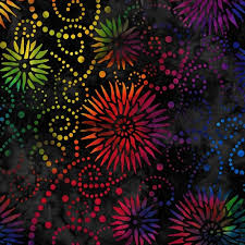 "Flower Burst Black / Multi Essential 108"" by Wilmington Prints. 1054-2084-954. 745181407896. Available at Quilted Joy.com."