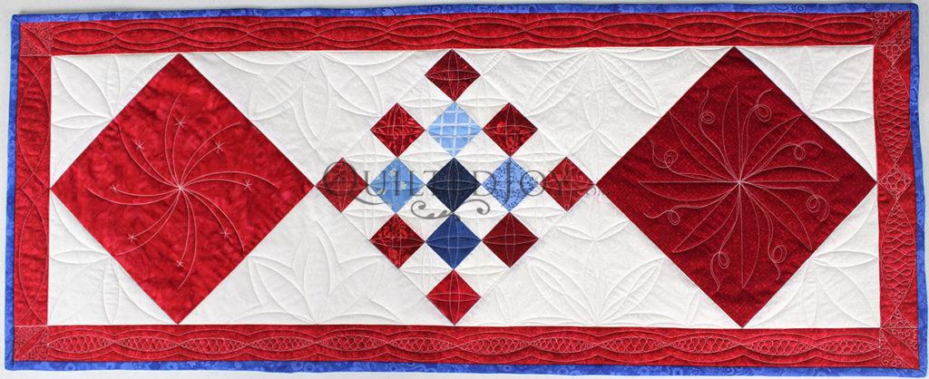 Custom Ruler Work on Patriotic Quilts