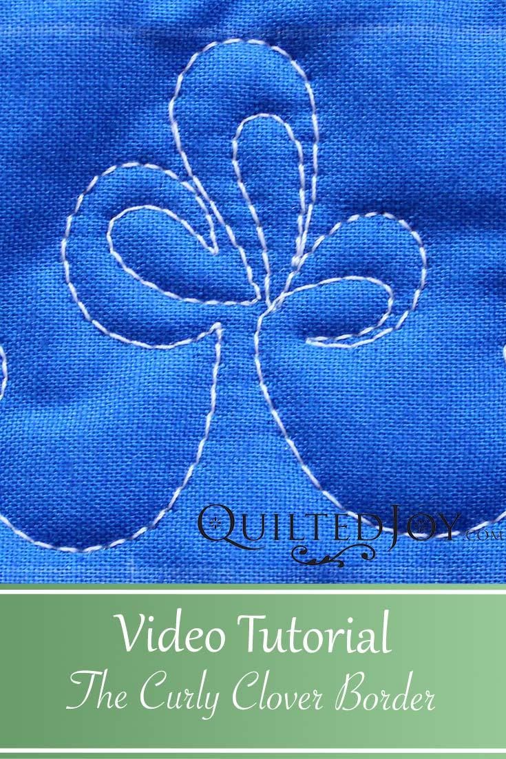 """""""Video Tutorial How to Quilt The Curly Clover Border Design"""""""