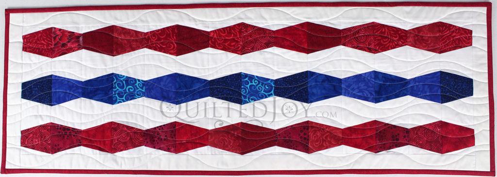 Ruler Work on Patriotic Quilt