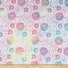"""Flower Burst White / Multi Essential 108"""" by Wilmington Prints. 1054-2084-154. 745181407810. Available at Quilted Joy.com."""